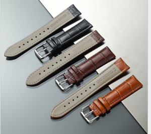 Mens Genuine Leather Watch Strap Twister Black blue 18mm 19mm 20mm 21mm 22mm UK