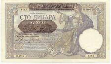 Billet banque SERBIE SERBIA YOUGOSLAVIE YUGOSLAVIA 100 DINARA 1941 UNC NEUF 633