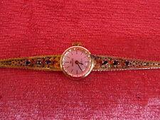 Hermosa, Antiguo Reloj de Pulsera __ 835 Plata __ Majestik __ Dorada