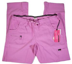 Koi Lite Peace Womens Medium Petite Light Orchid Scrub Pants Slim Fit 721-P, NWT
