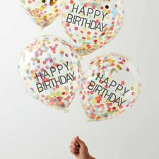 HAPPY BIRTHDAY CONFETTI RAINBOW BALLOONS - OVER THE RAINBOW