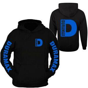 Duramax Blue Big D Design Color Black Hoodie Hooded Sweatshirt