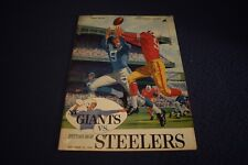 11/13/60 New York Giants vs. Pittsburgh Steelers program  Vintage Excellent