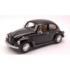 VW BEETLE 1968 BLACK 1:24 Welly Auto Stradali Die Cast Modellino