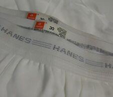 Nos Vtg 90s Hanes 100% White Cotton Briefs Grays Stripe Waistband Unworn sz 30