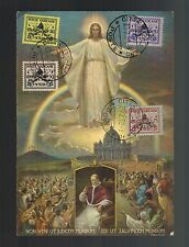 1939 Vatican City Catholic1929 Definitive Stamps Illustrated Postcard