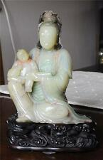 Very  Well  Hand  Carved  Chinese  Shou-Shan  Sone  Kwan-Yin  Figure