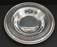 """Vintage Silverplate Round Wm Rogers Reticulated Serving Bowl Dish 12.25"""""""
