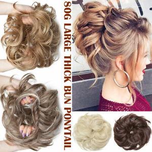 85g Large Curly Scrunchie Messy Bun Hair Piece Updo Ponytail Hair Extension AU