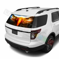 Eagles Designs Decals Rear Window See Thru Stickers Perforated for Ford Explorer