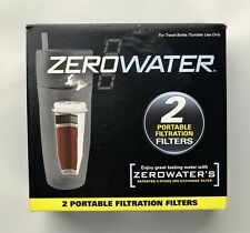 NEW IN BOX 2 ZEROWATER PORTABLE FILTRATION FILTERS