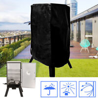 Black 37-Inch Durable Electric Smoker Zipper Cover Protects Weather-Resistant