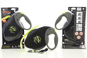 Flexi Giant Professional- 10m/50kg Tape Leash- Black-Neon- The Original