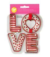 NEW Wilton LOVE 4 Piece Metal Cookie Cutter Set