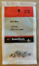 NEW! RadioShack 1/2 Amp 250 Volt Slow-Blow Fuses 5×20mm 270-1061 *FREE SHIPPING*