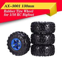 4PCS AUSTAR AX-3001 130mm Tyre Rubber Tires Wheel Plastic Hub For RC 1/10 Truck