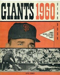 1960 SF San Francisco Giants Baseball Yearbook VERY GOOD Condition
