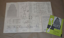 VINTAGE 1954 99 PARK AVE NEW YORK, NYC BLUEPRINT/POSTER! 30x21 ARCHITECT DETAILS