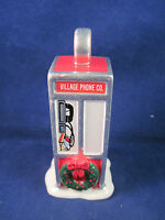Dept 56 Porcelain Village Phone Co Phone Booth 4 inch tall Christmas Ornament