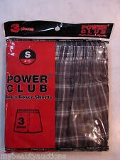 Power Club Boy's Boxer Shorts. 3 Pairs. Size Small 4-6. NEW. FREE SHIPPING.
