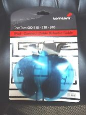 TOM TOM GO 510 710 910 iPOD CONNECT CABLE AND AUDIO CABLE