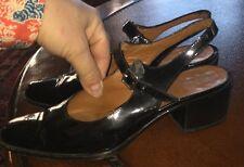 Ralph Lauren VTG Women's Patent Leather Mary Jane Low Heel Slingback Sz 5 Shoes