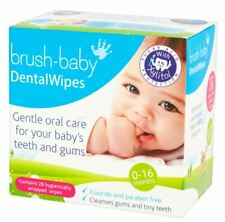 Brush Baby Dental Wipes 6 x (28) - Fast Shipping - Great Price .