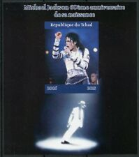 Chad 2018 MNH Michael Jackson 1v IMPF M/S II Popstars Music Celebrities Stamps