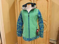 686 Womens Snowboard Jacket - Authentic Rhythm, Blue Floral Camo - Medium NWT