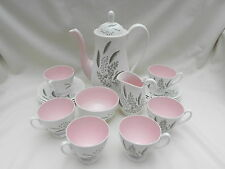 Queen Anne PAMPAS COFFEE SET , 6 x CUPS & SAUCERS, JUG, SUGAR and COFFEE POT.