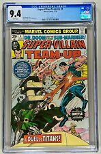SUPER-VILLAIN TEAM UP #4 CGC 9.4 WP NM (MARVEL 1976) 🔑 DR DOOM & SUB-MARINER 🔥