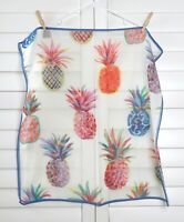 J.CREW NWT Ratti Painted Pineapple Print Square Hanky Handkerchief Scarf