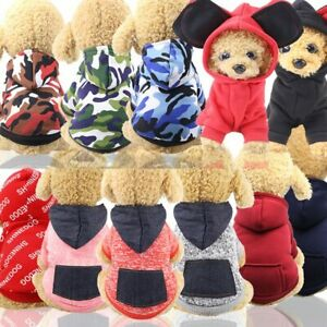 Autumn Winter Hoodies Simple Pets Clothes Sport Sweater for Puppy Dog and Cat