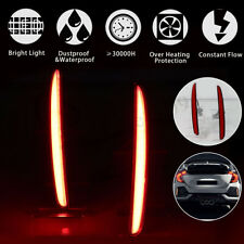 For Honda Civic TYPE R Hatchback 2017-2018 LED Rear Brake Driving Lights Bumper