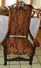 Walnut Carved High Back Entry Chair / Armchair (Ac178)