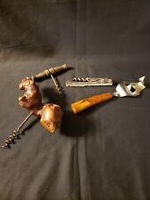 Interesting Lot Of Antique Vintage Corkscrews & Bakelite Bottle Opener