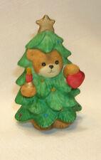 New ListingLucy & Me Christmas Tree Bear Lucy Rigg Enesco 1989 Figurine Ceramic