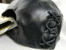 Hater Snapback Glove Hat Black Full Grain Leather Exclusive Limited Edition !!!