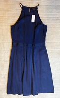NEW Banana Republic Navy Halter Fit and Flare Size 8 Tall Dress NWT