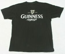 Guinness Beer Black White Tee T-Shirt Top Size Large Cottton Short Sleeve Man's