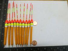 10 NEW WOOD SLIP FLOATS / BOBBERS PANFISH  ICE FISHING NO FREEZE UP ON LINE B227