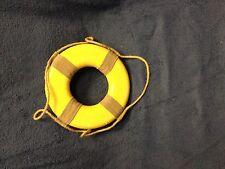 "New Vintage Yellow Decorative Lifering-lake-beach-tropi cal-nautical-home 8"""