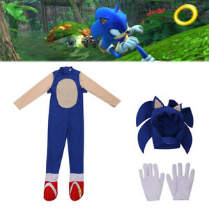 Kids Boy Girl Sonic The Hedgehog Jumpsuit Cosplay Costume Party Fancy Dress Up