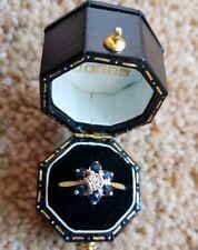 Sapphire & Diamond Gold Ring, Size O