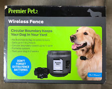 Premier Pet Wireless Fence for Dogs: .5 Acre Adjustable Circular Barrier, Wire-F