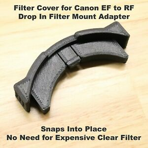 Cover for Canon EF to RF Drop In Mount Adapter Eliminates Need for Clear Filter!