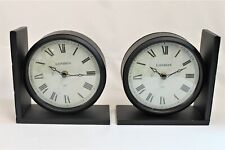 Pair of Clock Book-Ends - Brand New in Box - Thames Hospice
