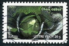 TIMBRE FRANCE AUTOADHESIF OBLITERE N° 750 / FLORE LEGUMES / CHOU CABUS