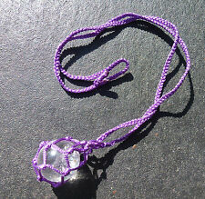 CRYSTAL WEB HOLDER © ~ PURPLE ~HAND MADE CAMBODIA ~ HOLD ALL YOUR TUMBLE STONES