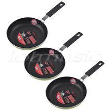 Mini Non Stick Frying Pan Sauce Pan Cookware 4.7 Inch with Aluminum Body 3 Pcs